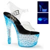 CRYSTALIZE-308PS Clear/Neon Blue Crystal